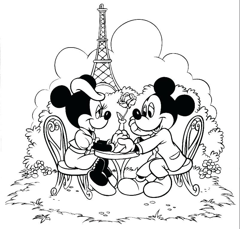 802x766 Minnie Mouse Coloring Pages Printable Mouse Coloring Pages