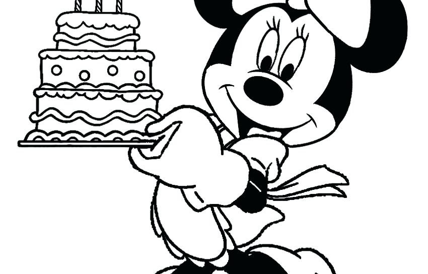850x544 Printable Minnie Mouse Coloring Pages Birthday Coloring Pages