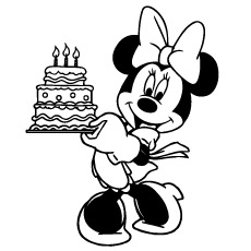 230x230 Happy Birthday Minnie Mouse Coloring Pages