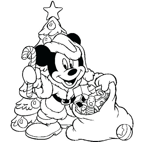 550x550 Mickey Mouse Christmas Coloring Page As Colori On Baby Minnie