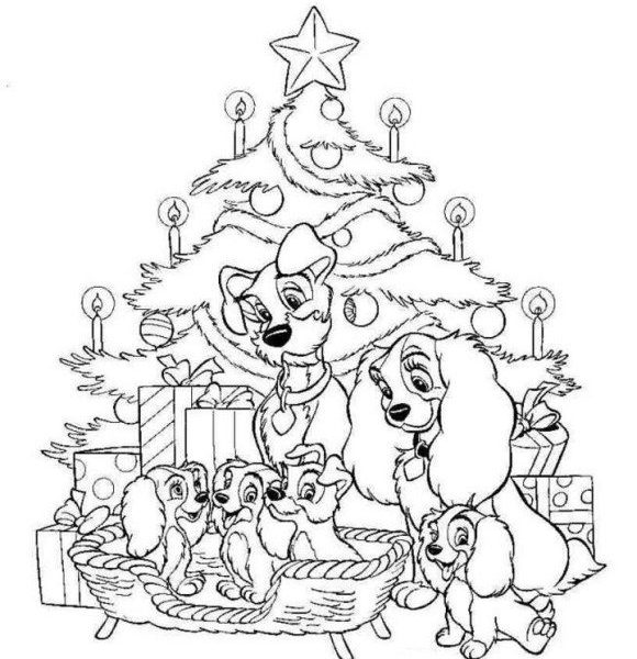 580x600 Printable Christmas Coloring Pages Disney Coloring Page