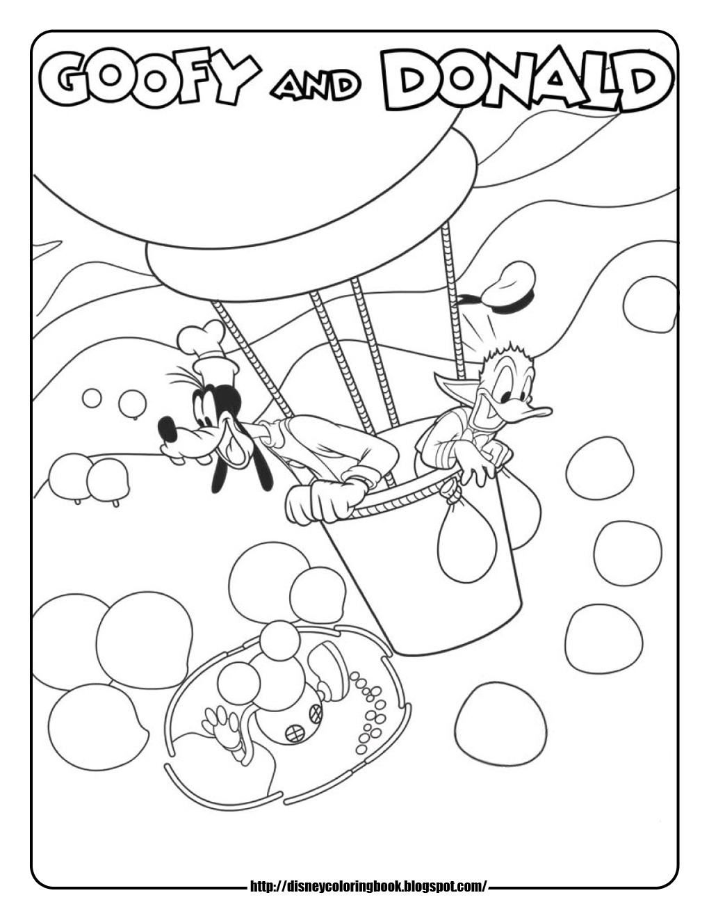 1020x1320 Mickey Mouse Coloring Pages Goofy Donald Hot Air Balloon Abcs New