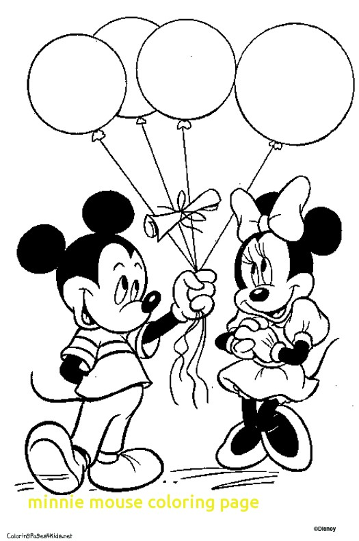 525x791 Minnie Mouse Coloring Page With Breathtaking Minnie Mouse Coloring