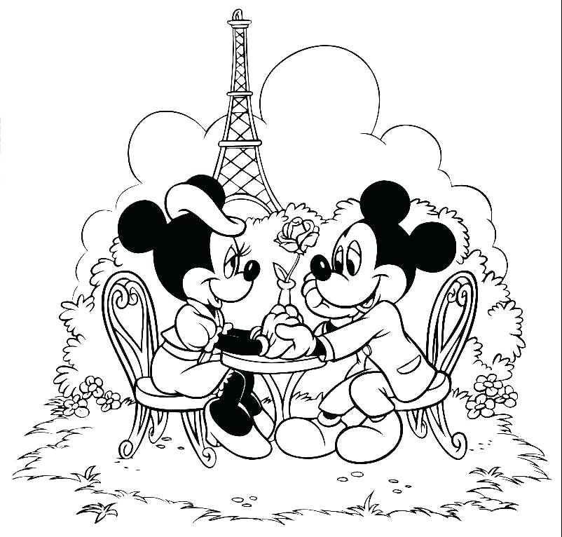 802x766 Printable Coloring Pages Mickey Mouse Mickey Mouse And Mouse