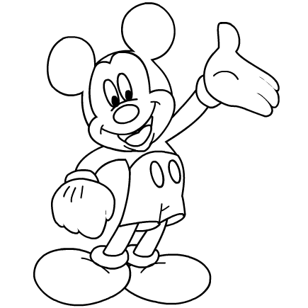 435x435 Mickey Mouse Coloring Sheets Printable