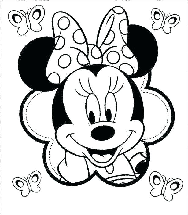 615x705 Minnie Coloring Page