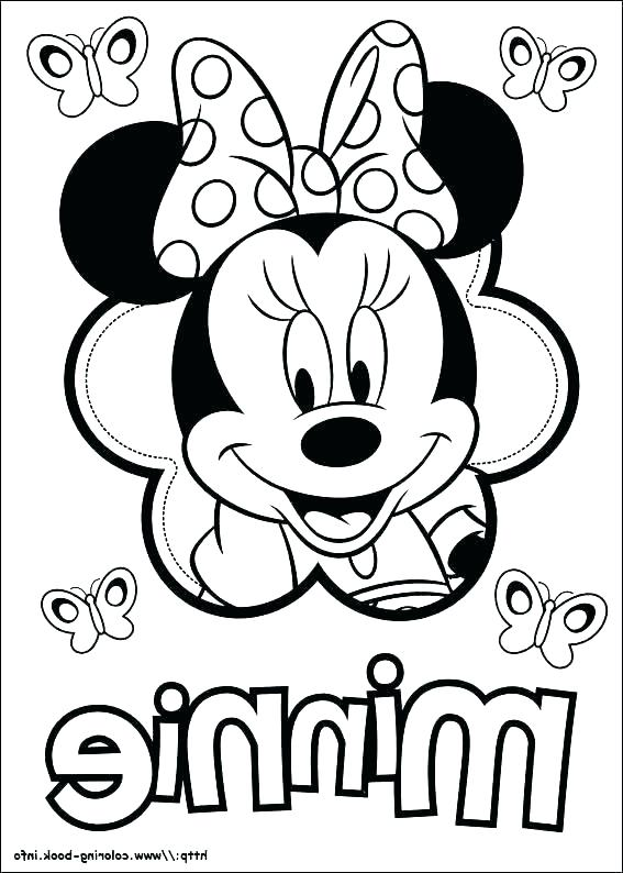 567x794 Printable Minnie Mouse Coloring Pages Pdf Free Mickey For Kids