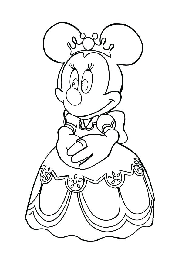 600x849 Baby Minnie Mouse Colouring Pictures Coloring Pages For Kids