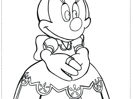 440x330 Free Minnie Mouse Face Coloring Pages Faces Of Page