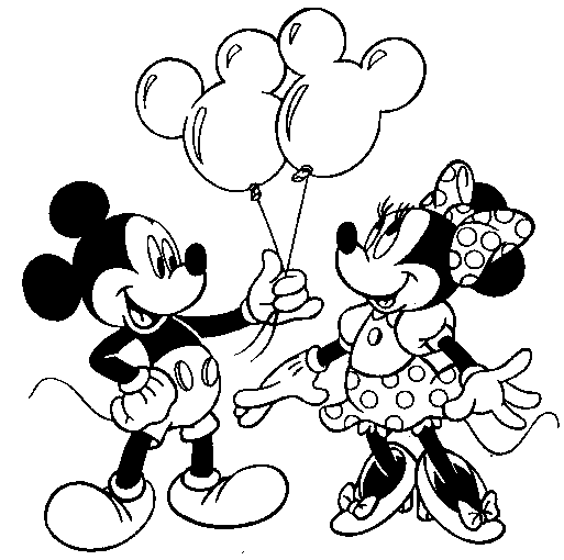 513x510 Face Coloring Mickey And Minnie