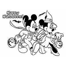 Minnie Mouse Halloween Coloring Pages