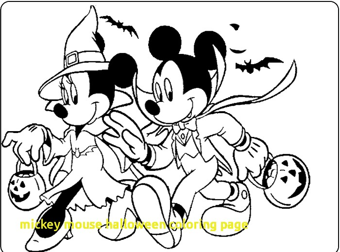 700x519 Mickey Mouse Halloween Coloring Page With Mickey And Minnie