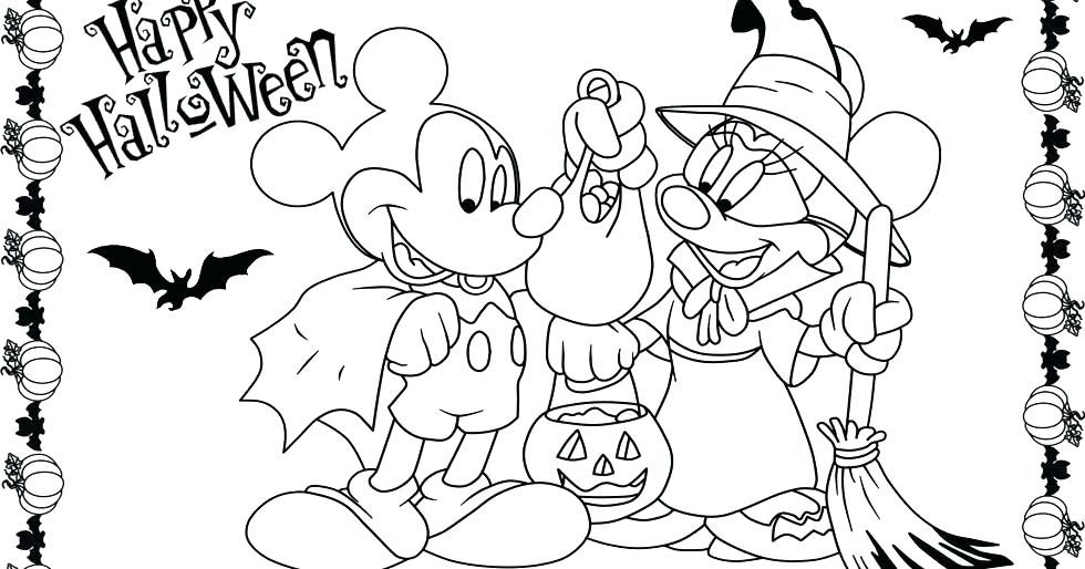 980x514 Minnie Mouse Halloween Coloring Pages Coloring Pages Mickey Mouse
