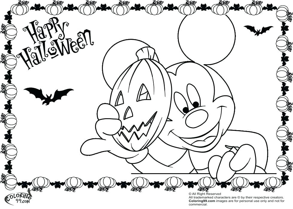 980x700 Minnie Mouse Halloween Coloring Pages Mickey Halloween Coloring