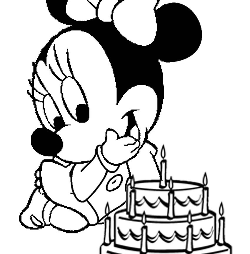 850x864 Free Minnie Mouse And Mickey Coloring Pages With Balloon Printable