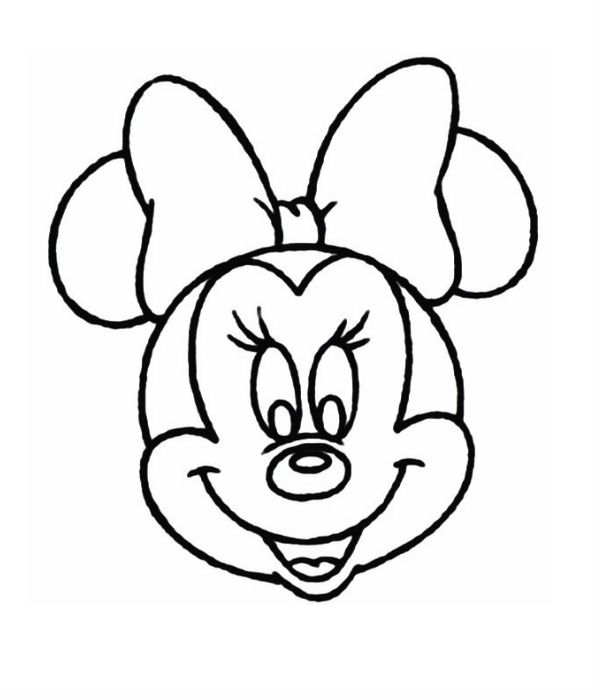 600x700 Minnie Mouse Head Coloring Page Things To Wear