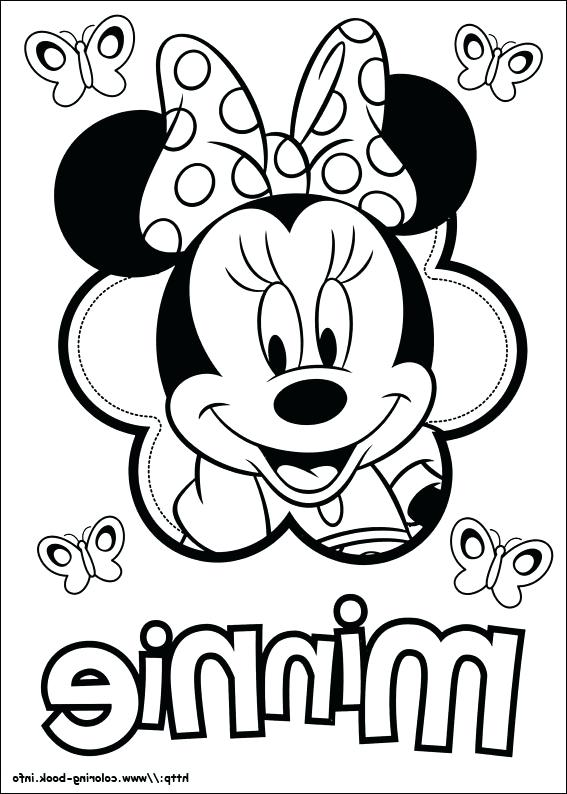 567x794 Minnie Mouse Printable Coloring Pages