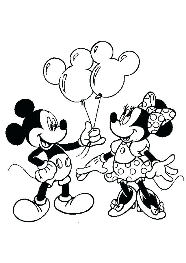 595x842 Coloring Pages Of Minnie Mouse Mouse Printable Coloring Pages Also