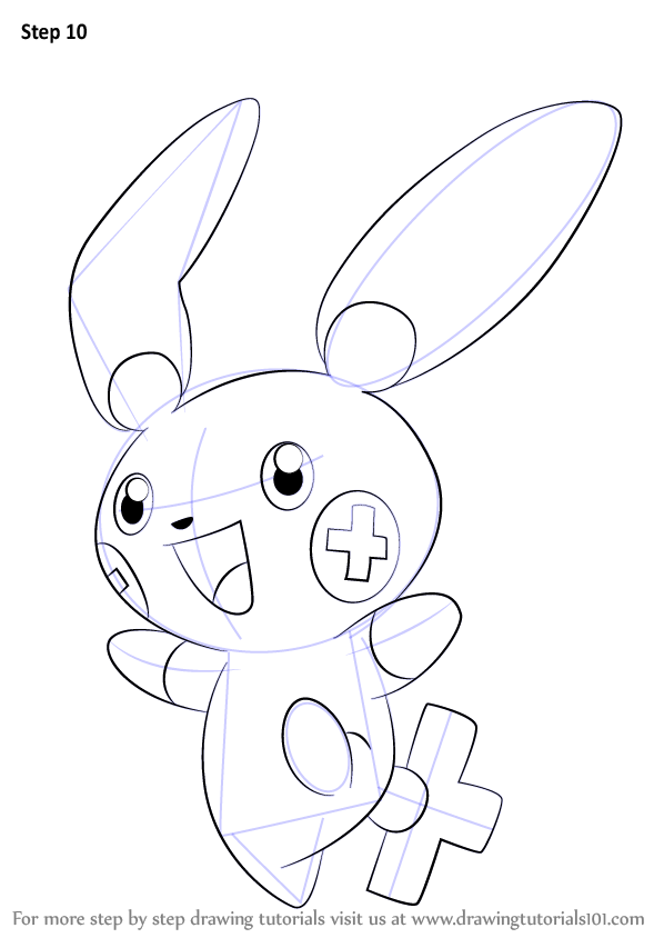 598x844 Learn How To Draw Plusle From Pokemon