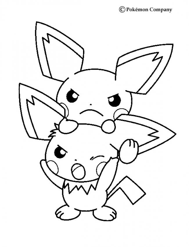 651x850 Pichu Coloring Pages