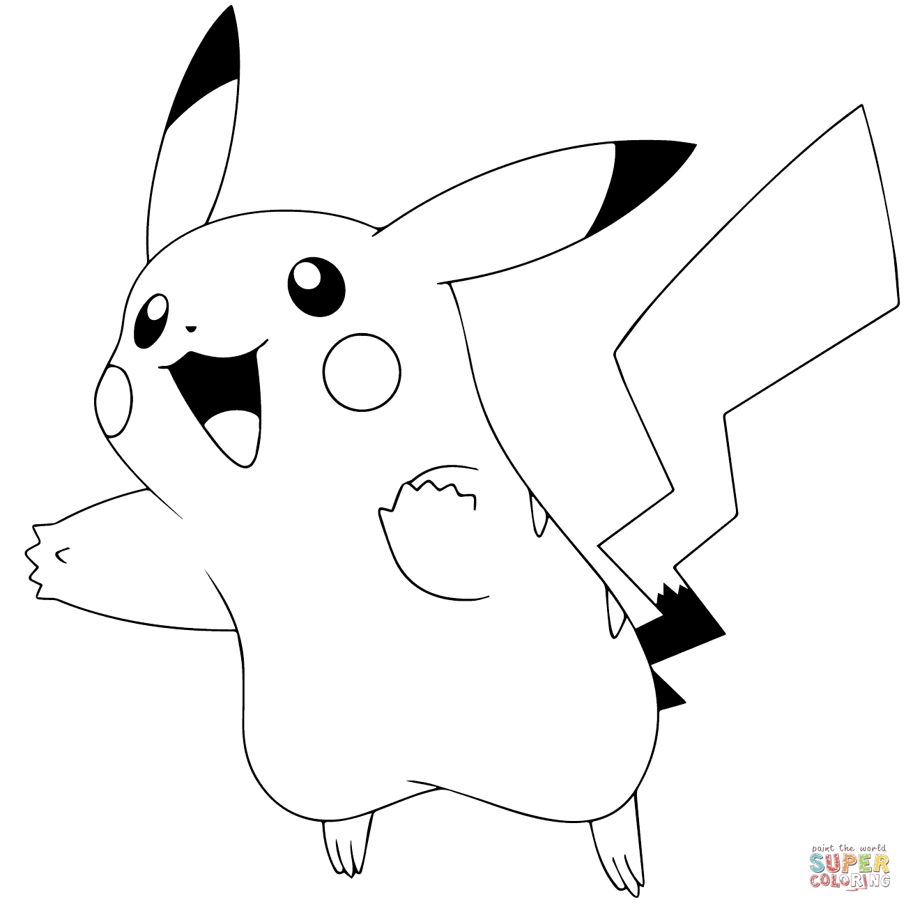 1300x1300 Pikachu Clipart Black And White