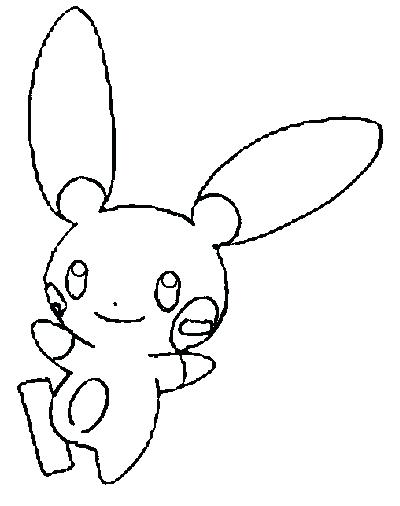 400x506 Plusle And Minun Coloring Pages Vanda
