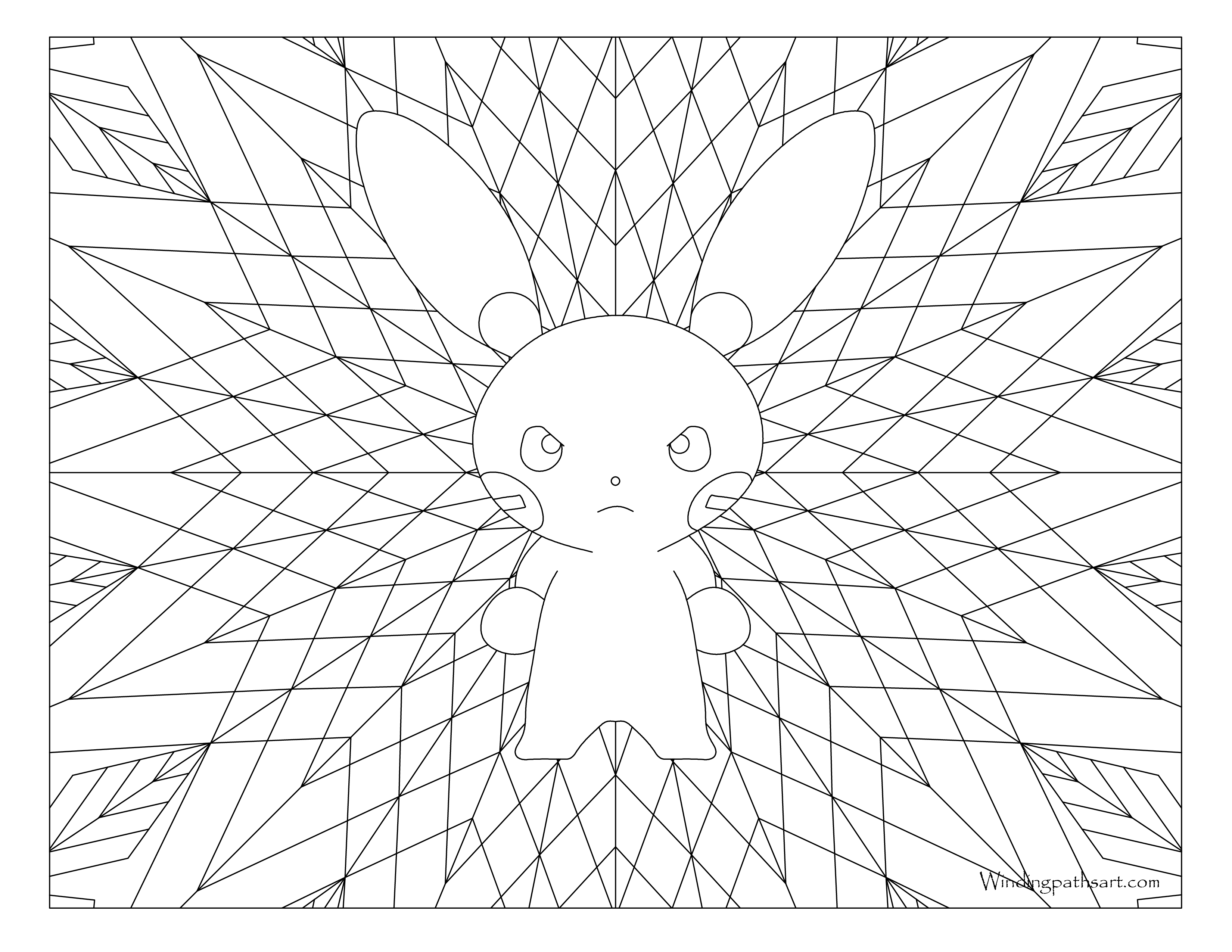 3300x2550 Minun Pokemon Coloring Page