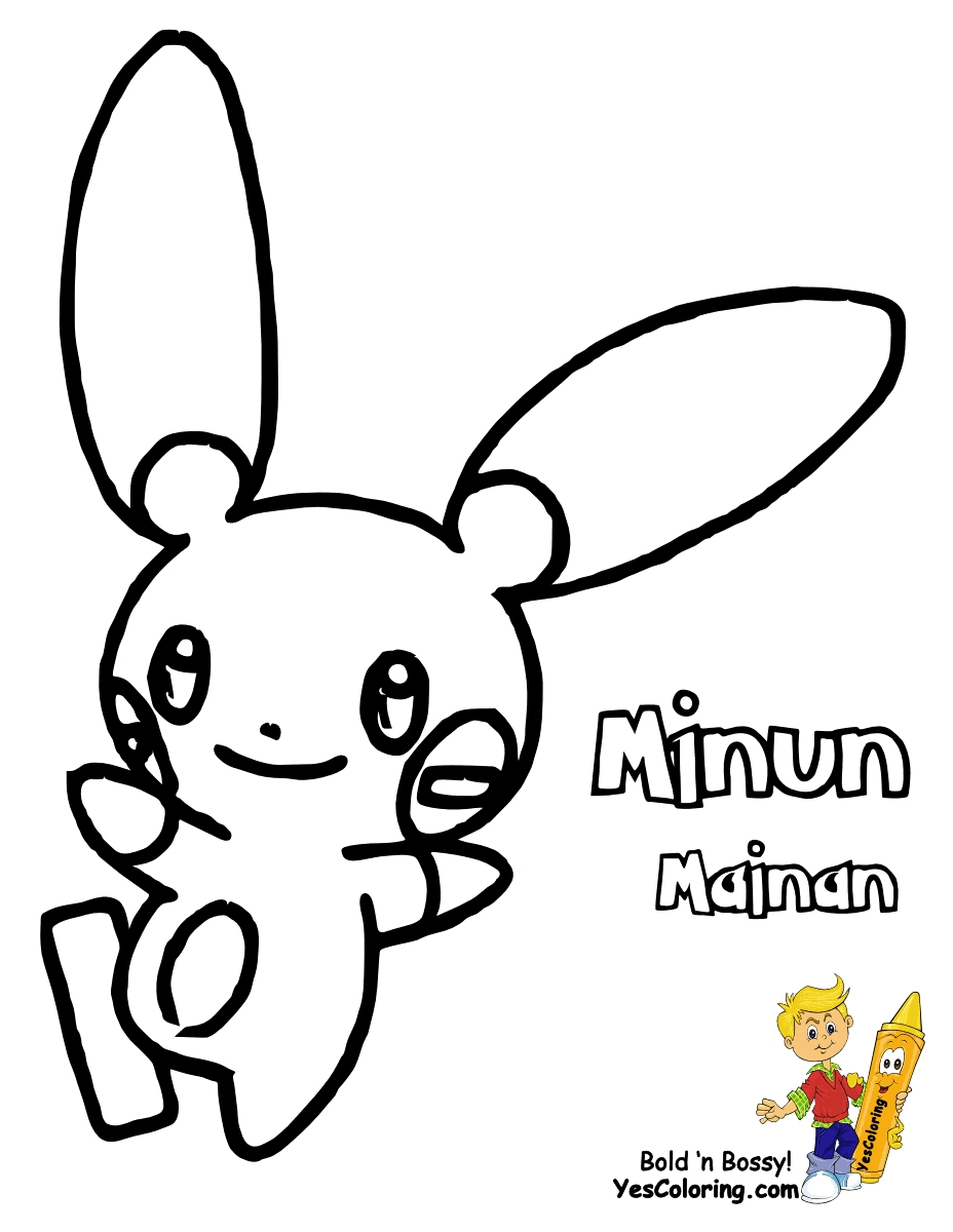 928x1200 Plusle And Minun Coloring Pages To Print Free Coloring Sheets