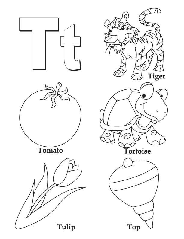 612x792 A To Z Coloring Pages