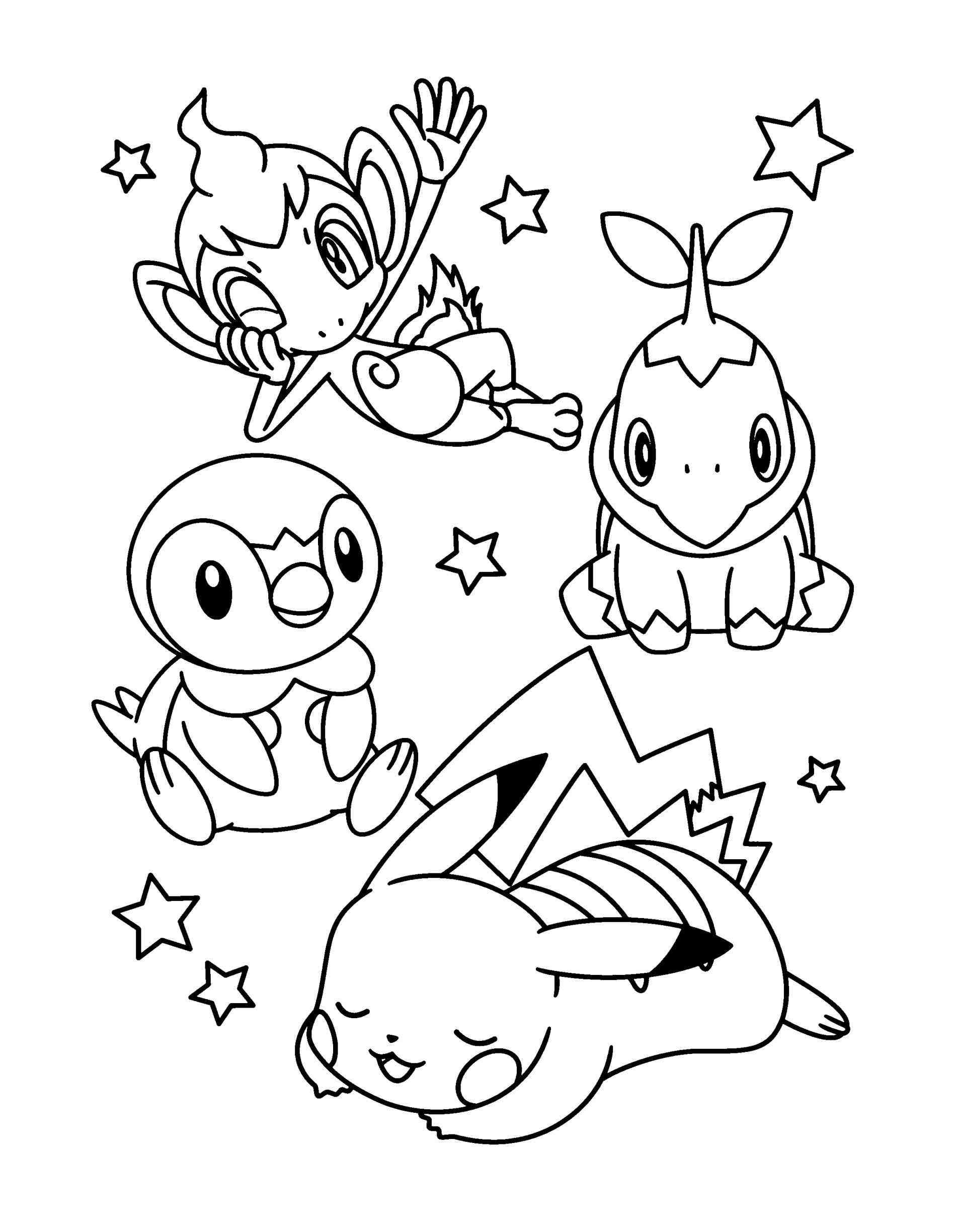 1896x2449 Pokemon Coloring Pages Pikachu And Friends