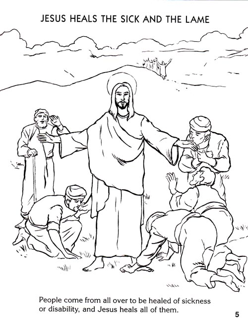 Miracles Of Jesus Coloring Pages at GetDrawings.com | Free for ...