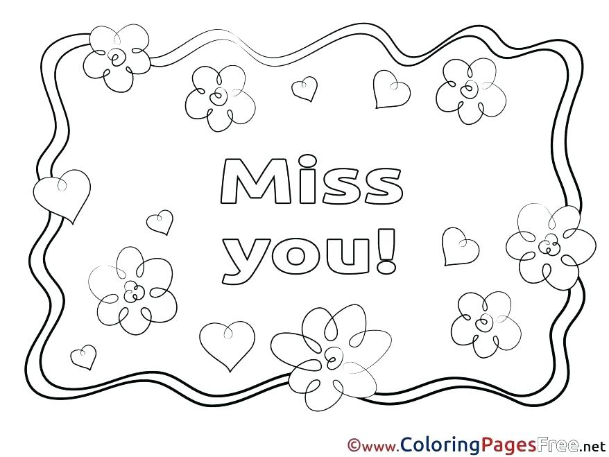 Miss You Coloring Pages at GetDrawings | Free download