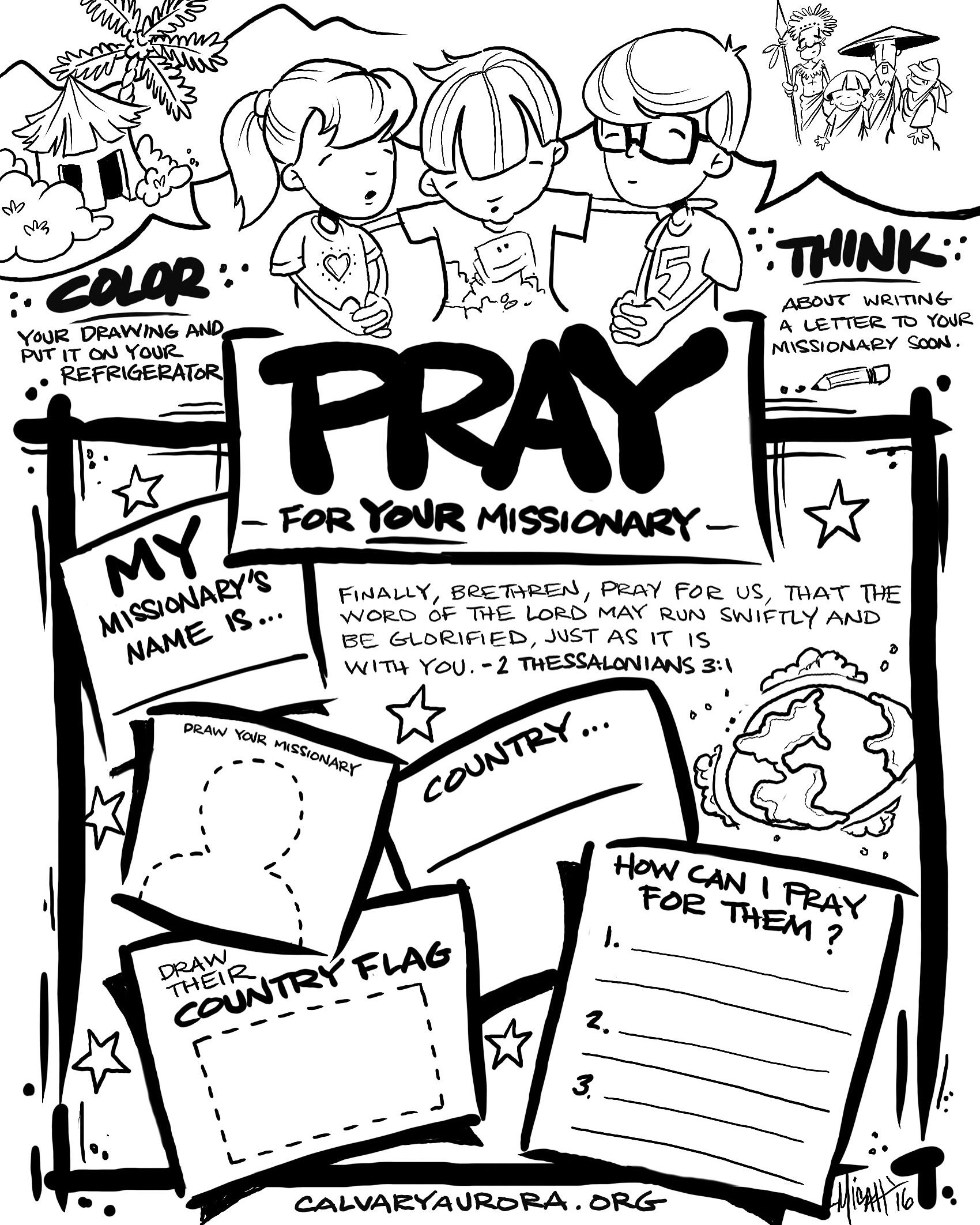 1700x2125 I Wanted To Create A Coloring Page To Introduce Kids To Missions