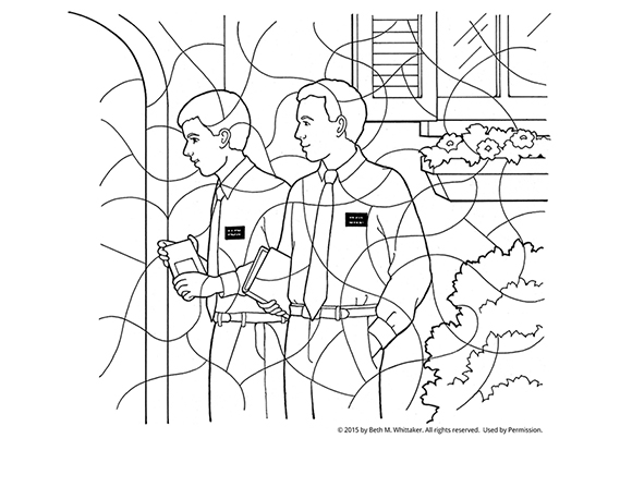 569x447 Missionaries Coloring Page
