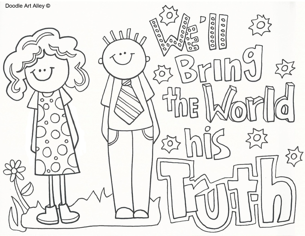 1035x800 Missionary Coloring Pages Free