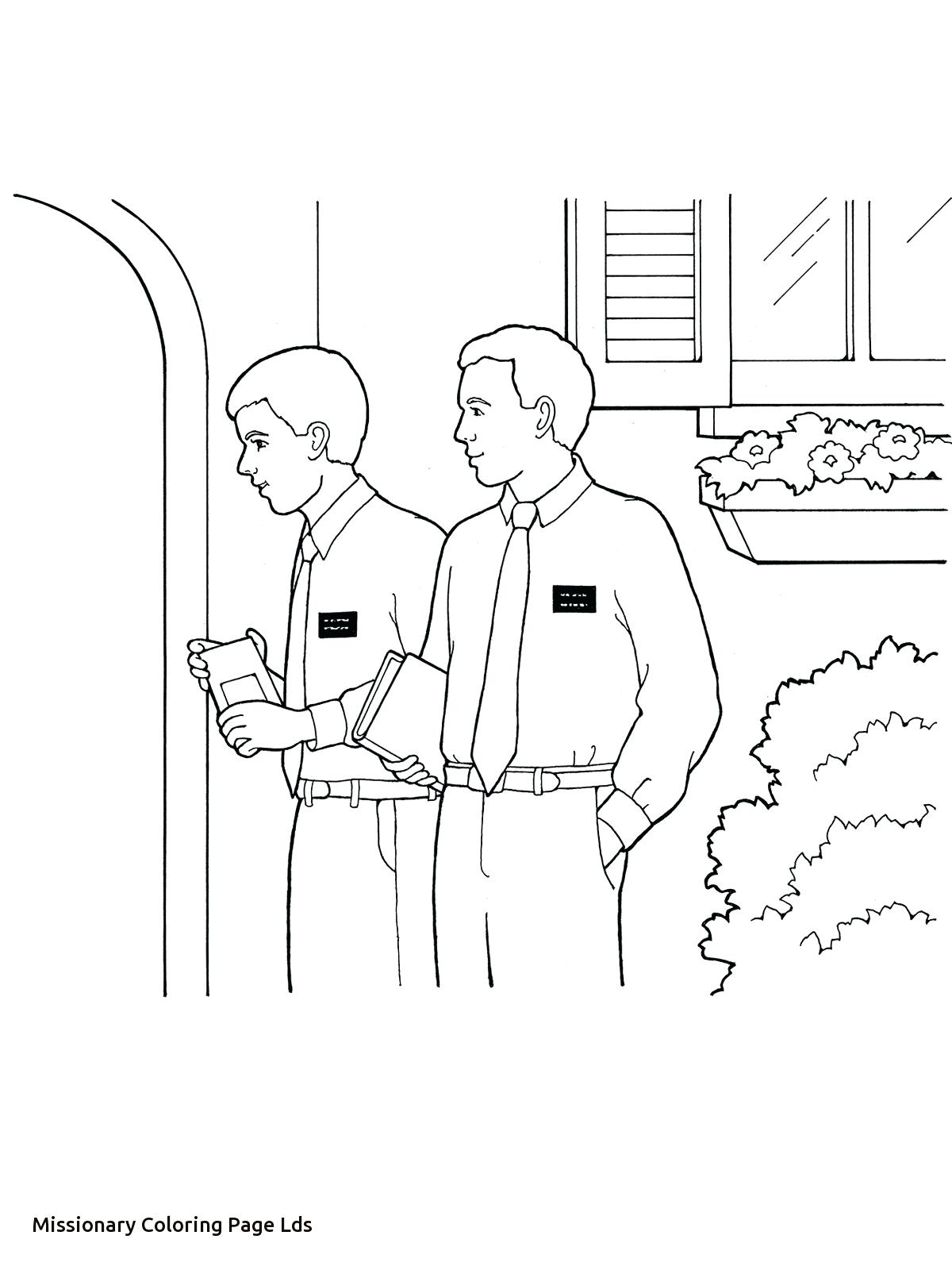 1200x1600 Missionary Cool Lds Coloring Page Free Pages
