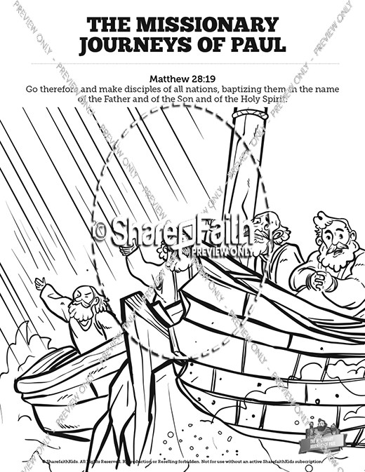 520x673 Paul's Missionary Journeys Sunday School Coloring Pages Sunday