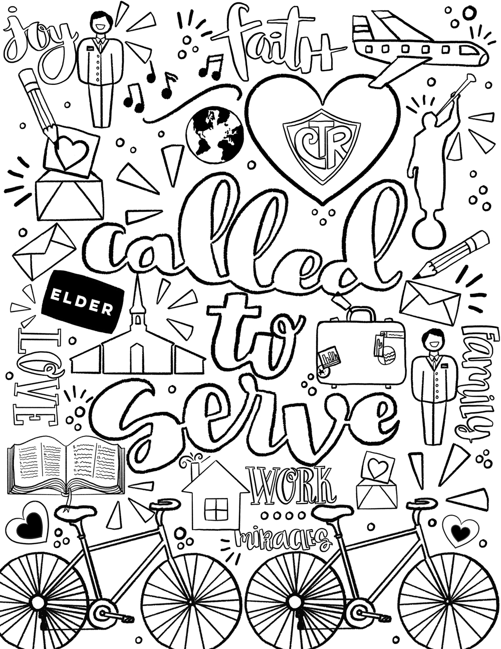 1000x1294 Unconditional Missionary Coloring Pages Celebr