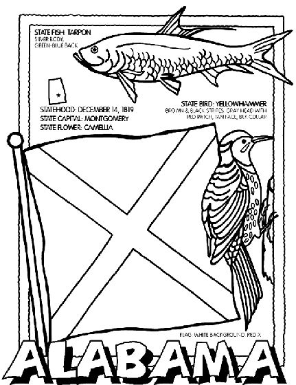 431x560 Free State Coloring Pages