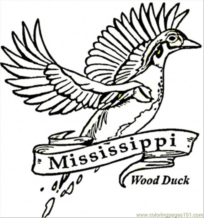 650x695 Mississippi Coloring Page