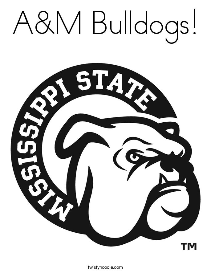 685x886 Aampm Bulldogs Coloring Page