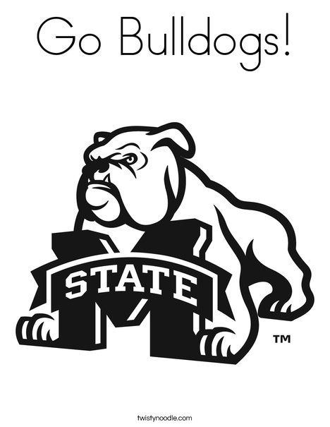 468x605 Mississippi State Bulldogs Coloring Pages