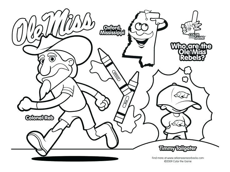 736x552 Auburn Coloring Pages Auburn Coloring Sheets Auburn Football