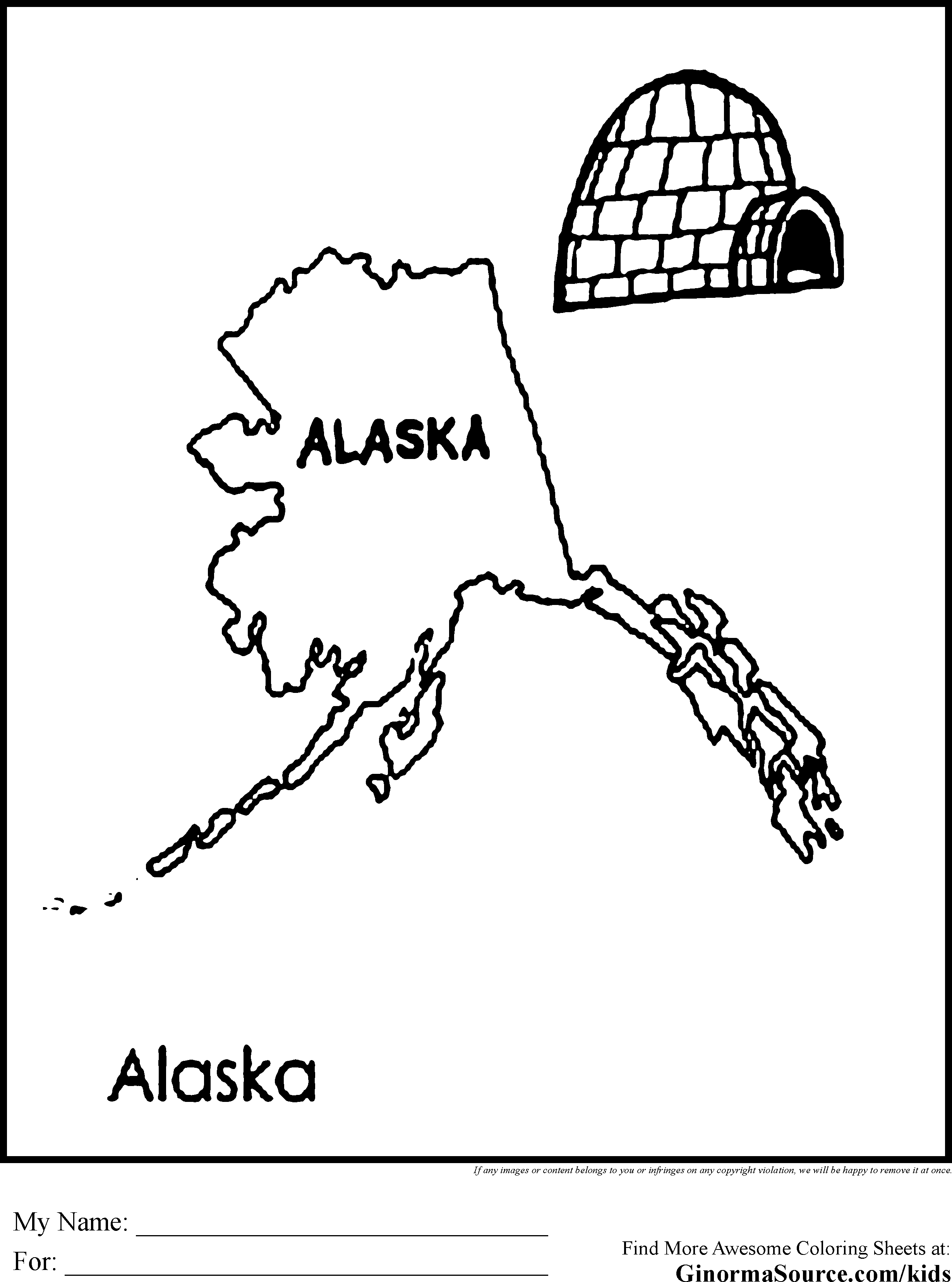 The Best Free Alaska Coloring Page Images Download From 50 Free
