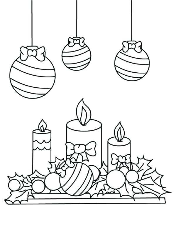 600x775 Mistletoe Coloring Page Candle Under Mistletoe Coloring Pages