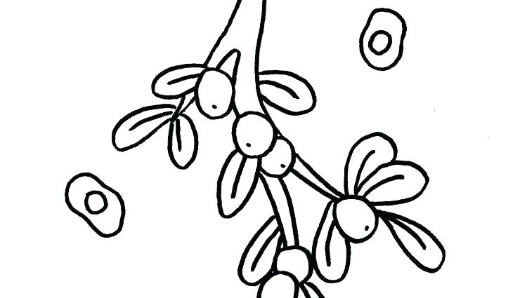 750x425 Mistletoe Coloring Pages Mistletoe Coloring Page Kiss Band