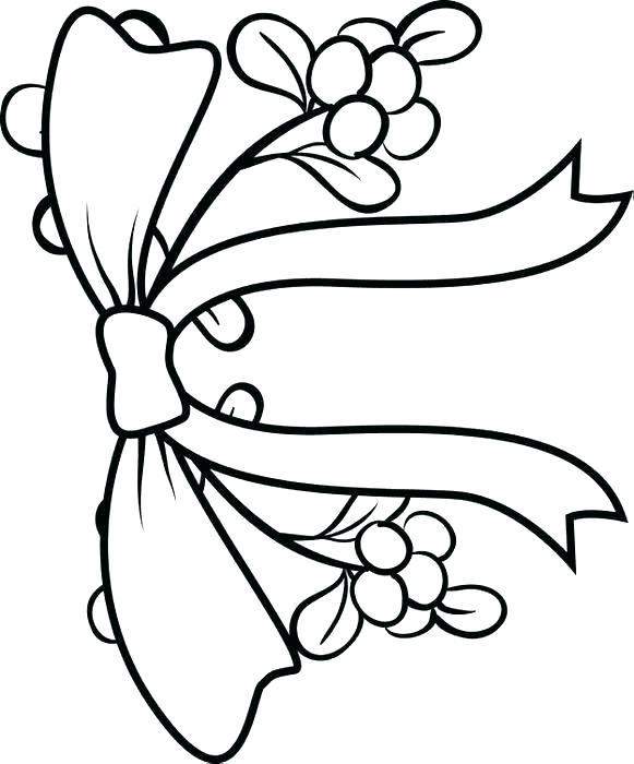 581x700 Mistletoe Coloring Pages Mistletoe Coloring Page Mistletoe