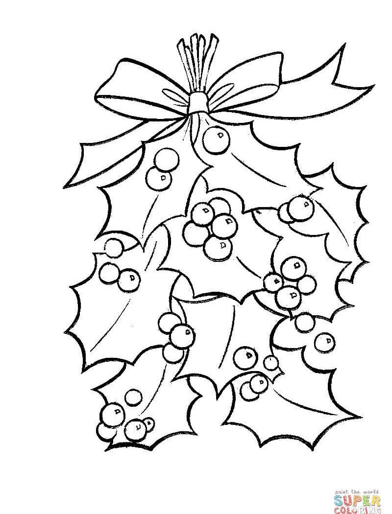 800x1050 Christmas Cartoon Coloring Pages Mistletoe Free Coloring Sheets