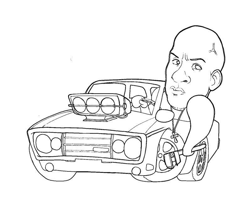 800x667 Fast And Furious Coloring Pages
