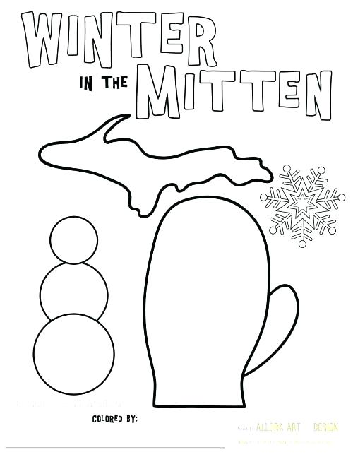 500x647 The Mitten Coloring Pages The Mitten Coloring Page The Mitten